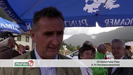 Fertigstellungsfeier des Hochwasserschutzprojektes Wölzerbach