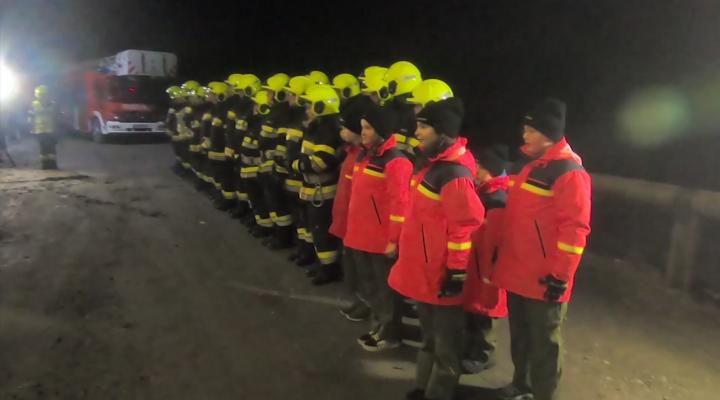 Feuerwehrübung im Nahwärmeheizwerk Murau-Stolzalpe