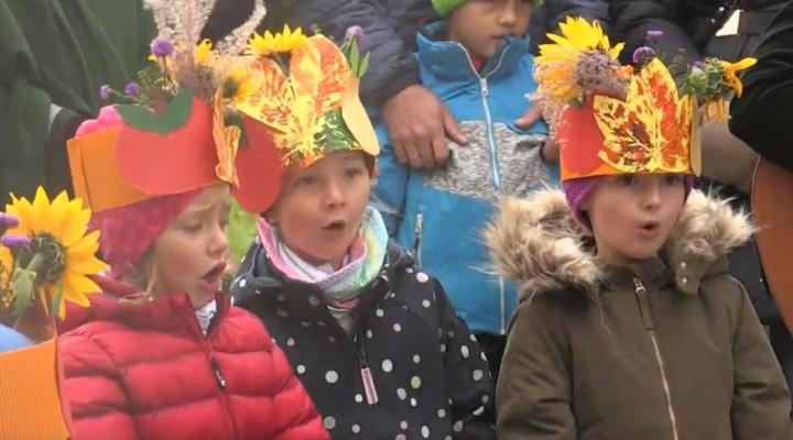 Erntedankfest mit Kindern des KG St.Egidi